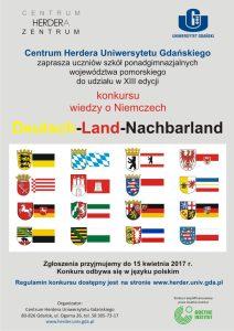 plakat do konkursu wiedzy o Niemczech